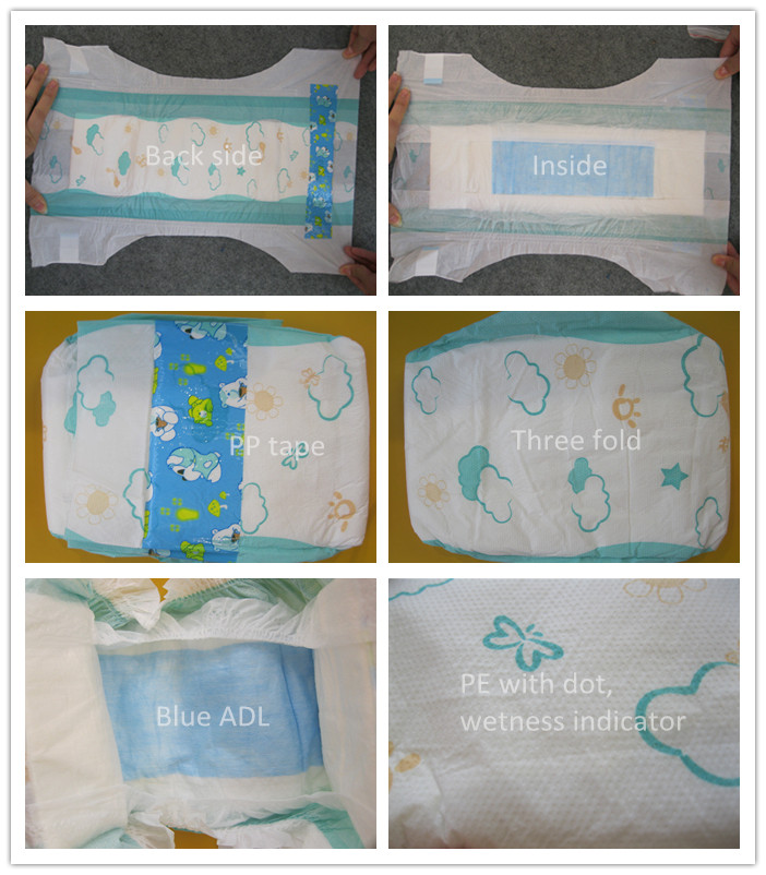 Wholesale Disposable Diapers, Cartoon Printing Super Dry Kids Diaper