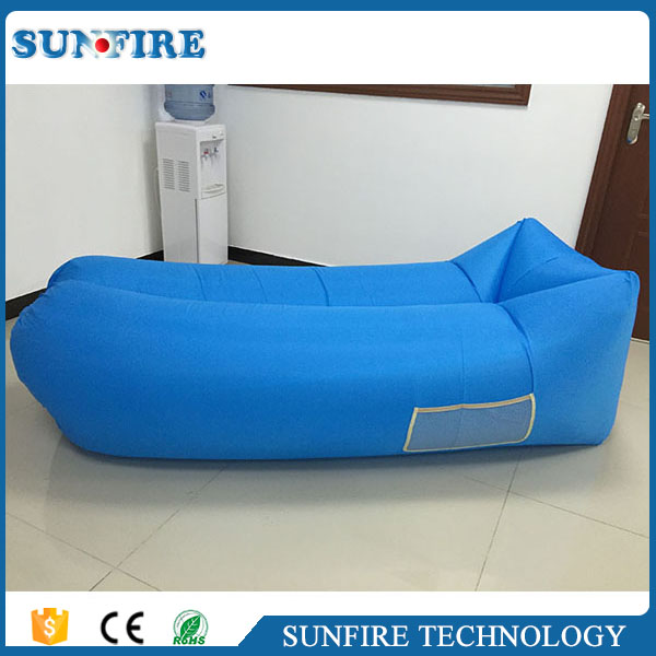 Hot sales laybag inflatable sofa price, laybag with led light