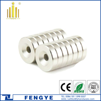 China Manufacturer N52 Neodymium Round Magnets with Holes