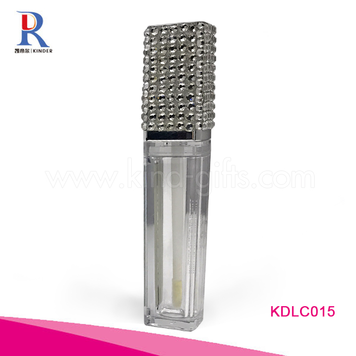 Fashional Bling Glitter Crystal Empty Customized Hot Sexy Lip Gloss Tube Square Lip Balm Tubes