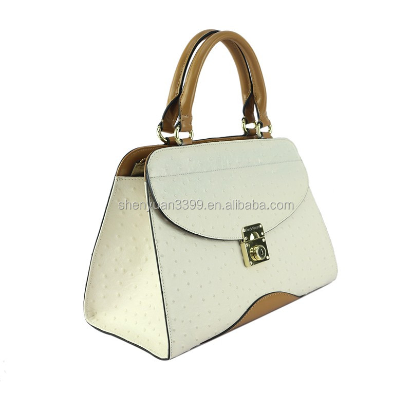 2016 New Product Ostrich Pattern PU Handbags women bags shoulder bag with a metal lock