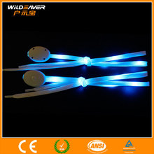 LED Flashing Nylon Satin Ribbon Shoelaces