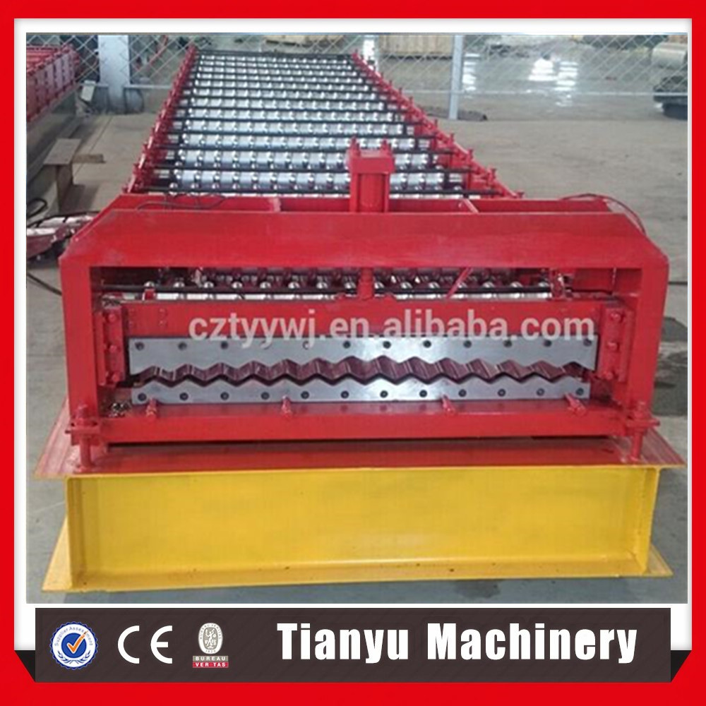 Iron corrugated roof sheet roll forming making machine with CE&ISO
