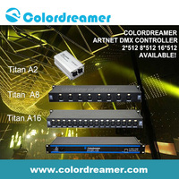 Colordreamer LED dmx controller artnet to dmx interface RJ45 with compatible Madrix 8*512 16*512