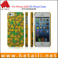 For iPhone 5S OEM Printing Water Imprint PC Mobile Phone Cover Factory