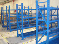 medium duty shelving system for the warehouse storage