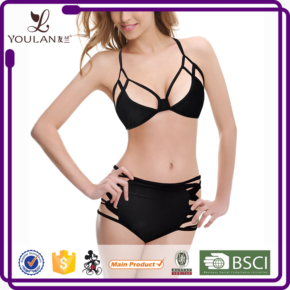 Factory Price High Quality Bandage Push Up Slimming Short Girls Bikini