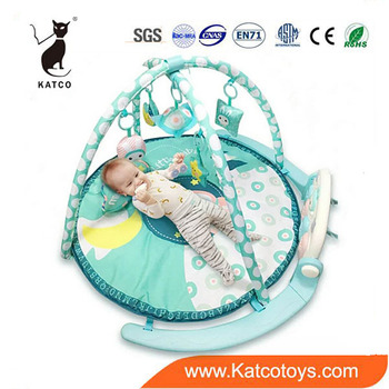 Wholesale Plastic Funny Kick Piano Activity Baby Play Mat Gym With Crib Hanging Toy