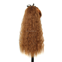 Synthetic Ponytail Hair Tress Drawstring Ponytails Extension Clip in Hair Light Strawberry Blonde