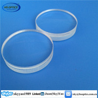High quality fused silica achromatic doublet lense
