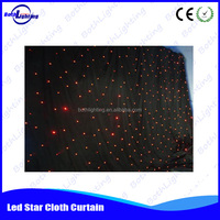 dmx led stage fake star cloth curtain light wall effect