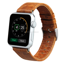 2017 New Crazy Horse watch strap, Genuine Leather Watch Band for Apple Watch 38mm 42mm link bracelet band