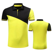 blank 100 cotton yellow men golf polo t-shirt with custom logo