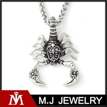Punk Spider Pendants Charm with Stainless Steel Unique Jewelry for Men