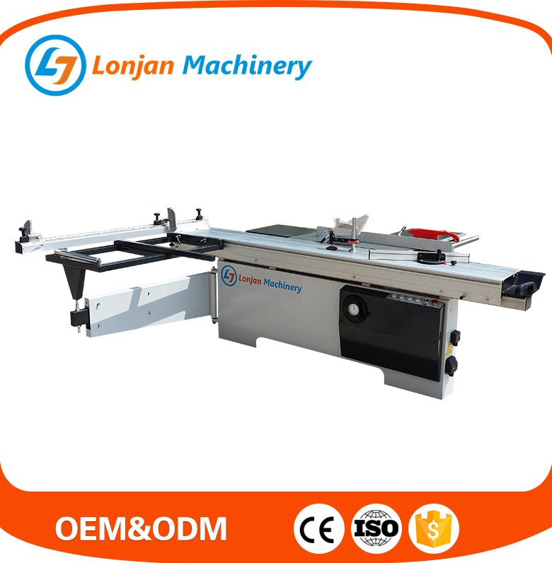 woodworking machinery 2800mm round stick rail 0-45 degree tilting saw blade MJ6128-45F sliding table saw