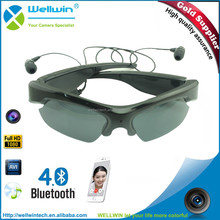 WELLWIN Polarized Sunglasses with camera 8-32GB Full HD 1920X1080P Video Recorder Bluetooth Headset for IOS Andrioid Smartphone
