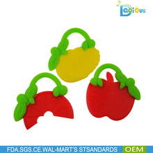 best selling products new design fruit teether silicone baby toys silicone teether