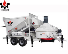 SDDOM MB full-automatic control system Mobile ready-mixed Concrete Mixing plant/beton mixing plant for construction for sale