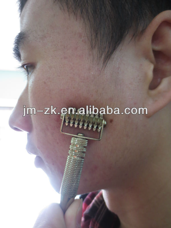Ear probe dermal roller for acupuncture or beauty