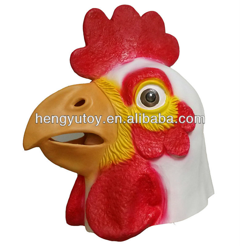 Halloween Party Robust Animal Chicken Mask Rooster Costume for Adult Dress