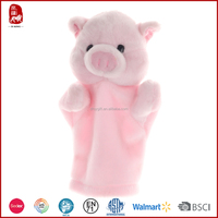 Funny story plush toys cute pig plush hand puppet