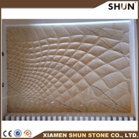 elegant luxury 3d carving wall marble tile