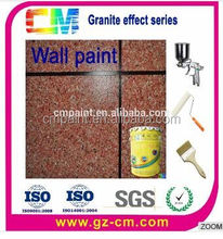 Top quality weather resistant water based granite powder stone coating
