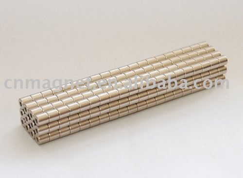 Nickel Coaing Cylinder rare earth ndfeb magnet