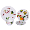 Bone China Dinnerware Set,Super white chinaware With Flower printing.