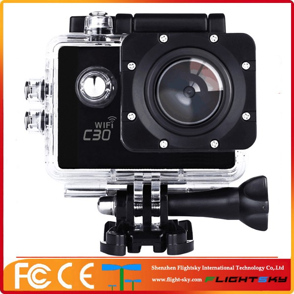 Wholesale C30 mini wifi Waterproof wireless night vision 4k Action Camera with hd sport video