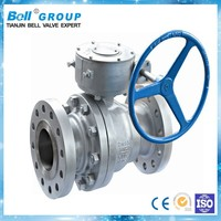 Manual CF8 2 way floating ball valve for hot water