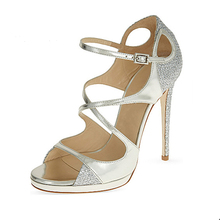 New Fashion Design Women Cross Ankle Strap Shoes Peep Toe Wedding Dress Pump Shoes For Women
