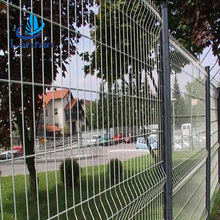 Folding curve top quality China professional supplier low price black welded wire fence mesh panel
