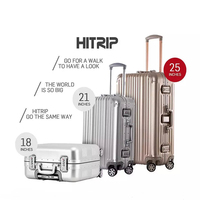Travel Trolley Luggage- Newest Fashion Man and Lady Bussiness and Leisure Vintage Universal Wheel Travel Trolley Luggage