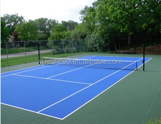 outdoor high quality acrylic badminton court flooring