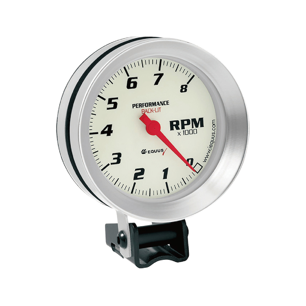 85 mm Performance shift light tachometer for electric motors Display 0 to 8000 RPM