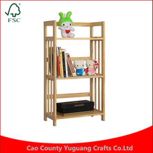 Gohide All Solid Wood 3 Layer Puzzle Paint Simple Bookshelf