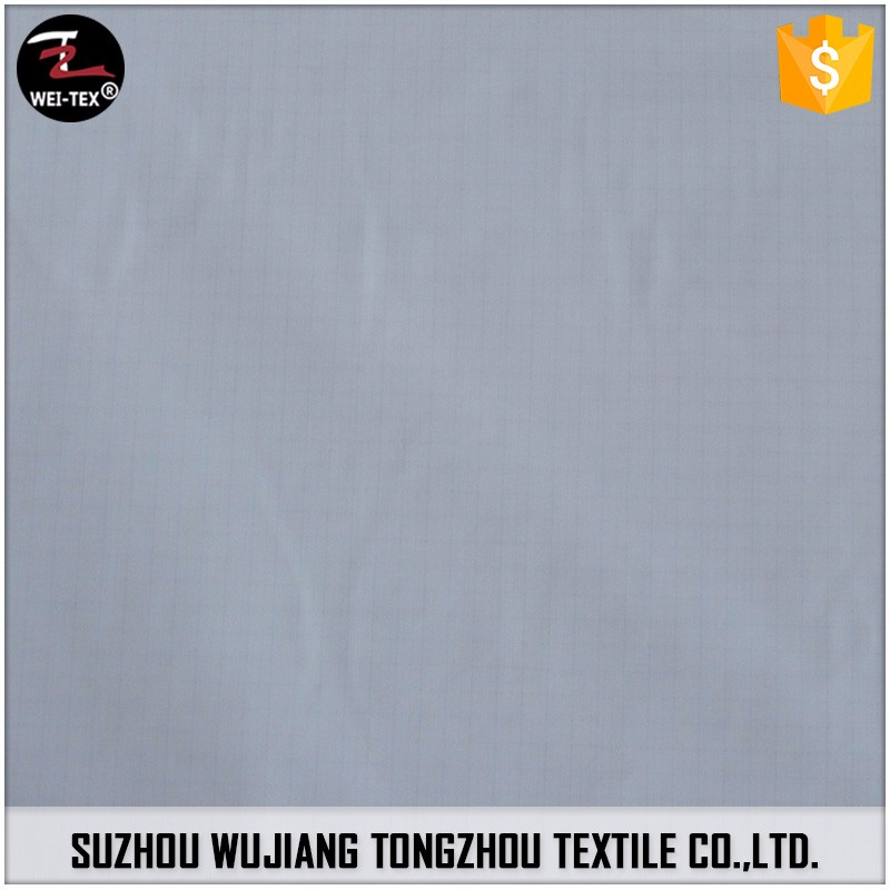 Wholesale 2017 High Quality Good Design Pongee Breathable Milky Coating Fabric
