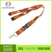 Factory direct custom logo printed lanyard safety breakaway buckles