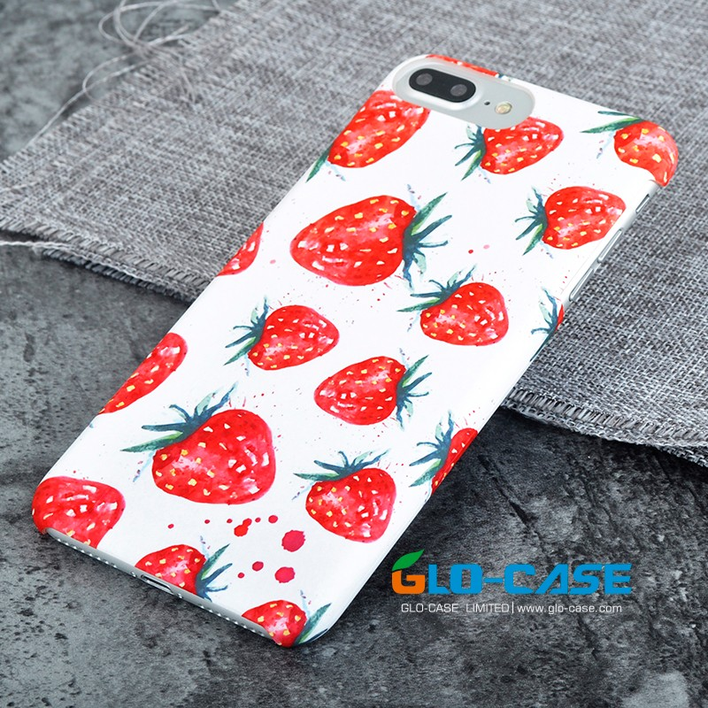 strawberry photo print pc phone case for iphone 7 plus fruit series