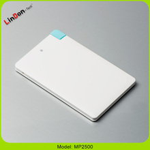 2500mAh Credit Card Slim USB Power Bank Charger For Smartphone