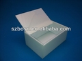 White Acrylic Box with a cover lid that extends at the front for easy opening