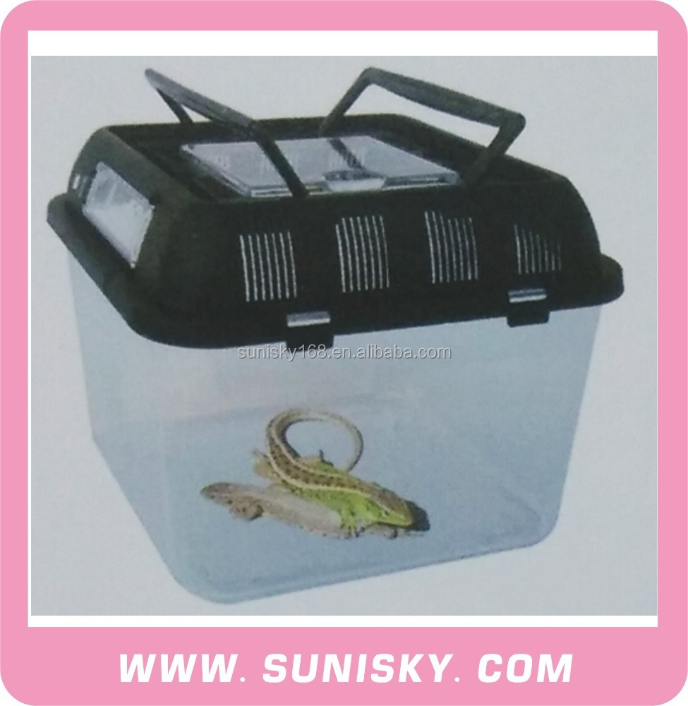 Tansparent Plastic Turtle Box Reptiles