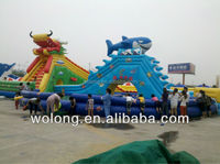 kids and adults big customized water slide / Inflatable Water Slide for sale