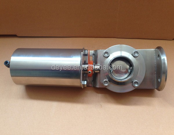 Exhaust Butterfly Valve ~ Quot dn pneumatic air operated exhaust