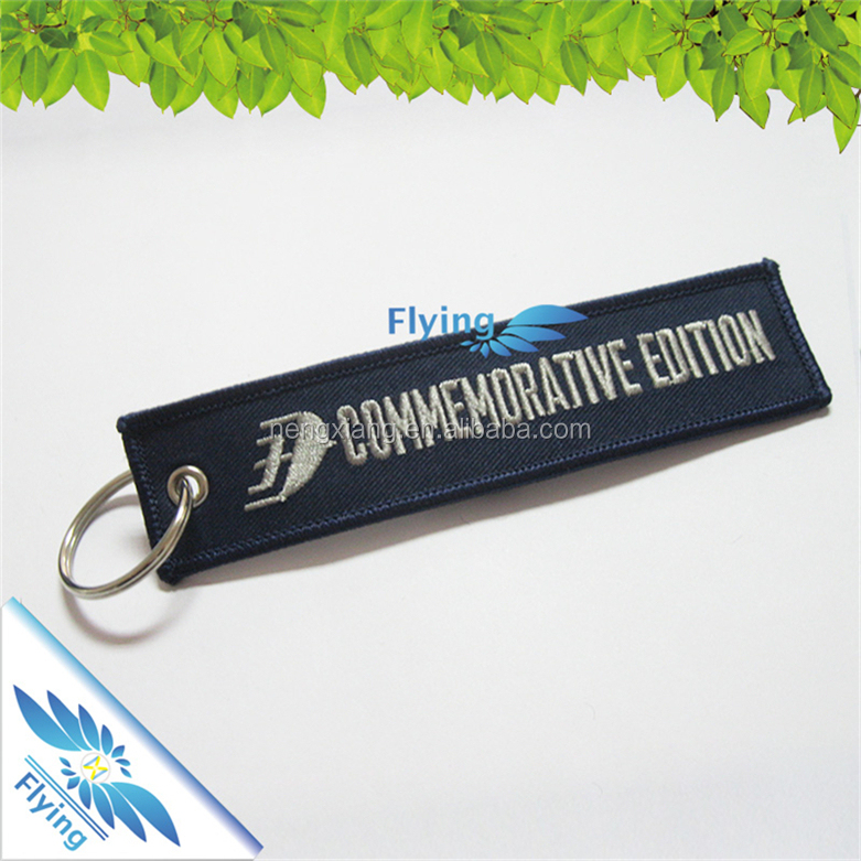 Customized Logo Promotional embroidery name tag rabbit lantern key chain