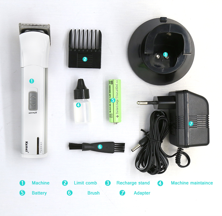 Kemei KM2599 Rechargeable Repair Hair Cutter with Battery, Fast Charging Cordless Hair Trimmer