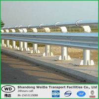 Hot Dip Galvanized Steel Beam Bridge Guardrail