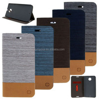Hit Color Flip Jeans PU Leather Card Stand Case Cover Skin for MOTO X+1 XT1097
