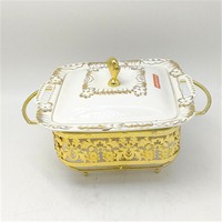 10/11/12inch High Quality Ceramic Buffet Chafing Dish Food Warmer Serving Dish